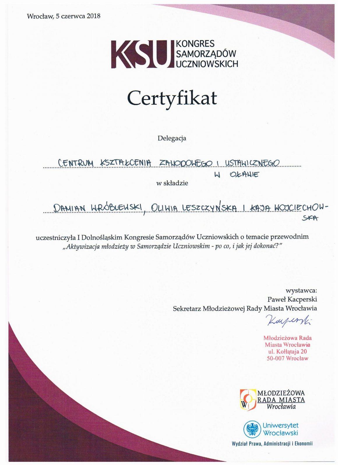 Samorząd z certyfikatem