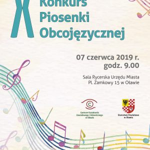 Zaproszenie do udziału w X Regionalnym Konkursie Piosenki Obcojęzycznej