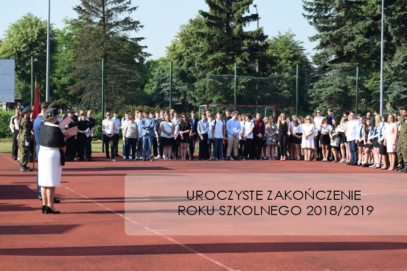 Uroczyste zakończenie roku szkolnego 2018/2019