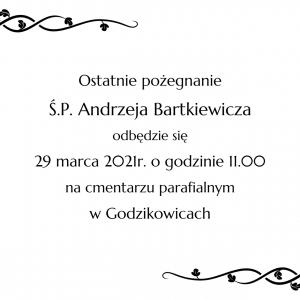 Informacja o pogrzebie