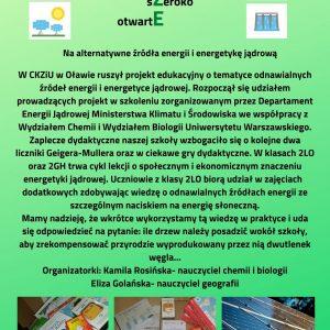 """Projekt """"ALTERNATYWNE ŹRÓDŁA ENERGII"""""""